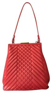 Cynthia Rowley Quilted Red Clutch
