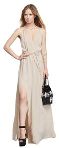 Champagne Maxi Dress by Reformation Slit Maxi Open Back Wedding