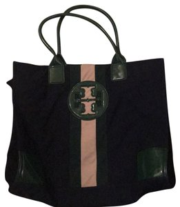 Tory Burch Tote in Navy blue, beige and green