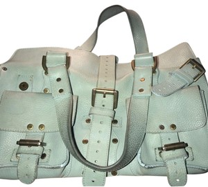 Mulberry Satchel in light aqua teal