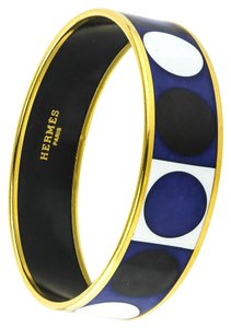 Hermès * Hermes Enamel Accessory Bangle Bracelet