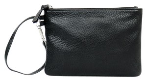 Mackage Leather Zipper Organizer Wristlet in Black