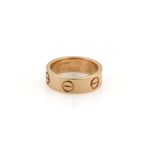 Cartier Cartier 18k Rose Gold 5.5mm Wide Band Ring Size 47- US 4