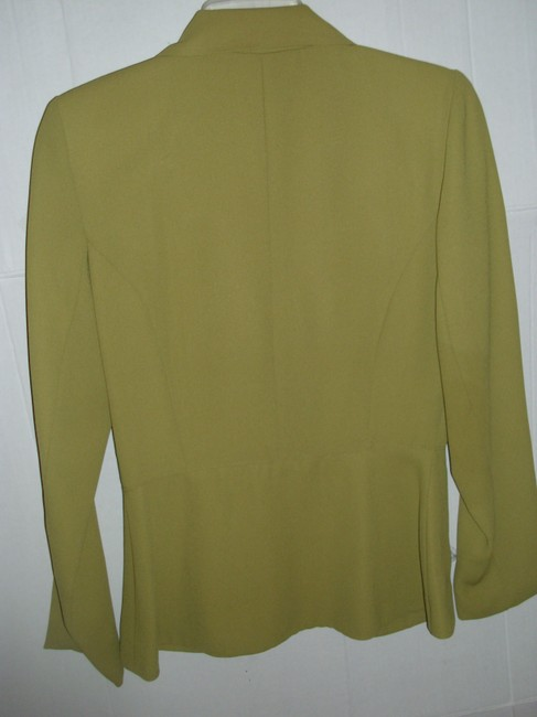 Rampage Lined Small Classic Fitted Tailored Olive Blazer Image 1