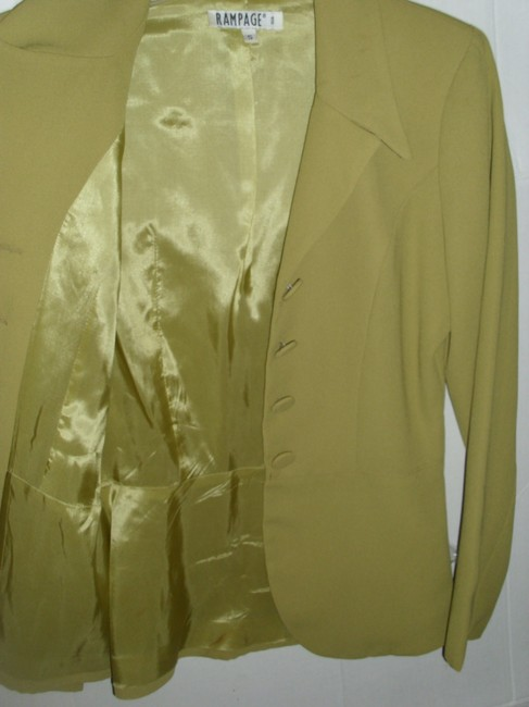 Rampage Lined Small Classic Fitted Tailored Olive Blazer Image 3