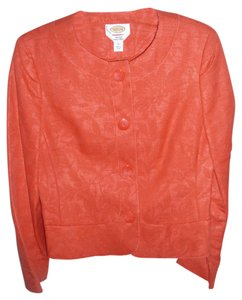 Talbots Imported Embroidered Salmon Jacket Suit Blazer