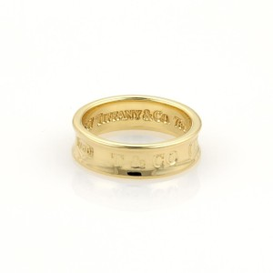 Tiffany & Co. 1837 Collection 18k Yellow Gold 6mm Concave Band Ring Size 5.5