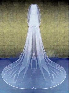 New. 2 Layer Wedding Veil With Beads .
