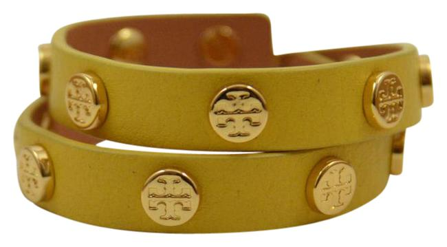 Item - Mustard Yellow New Logo Studded Double Wrap Bracelet