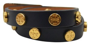Tory Burch New Logo Studded Double Wrap Bracelet
