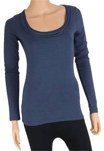 Banana Republic Long Sleeve Missy Top Navy