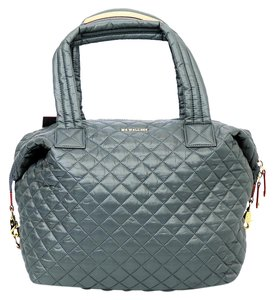 MZ Wallace Mz Nylon Quilted Tote in Gray