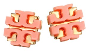Tory Burch New Enamel Large T Logo Stud Earrings