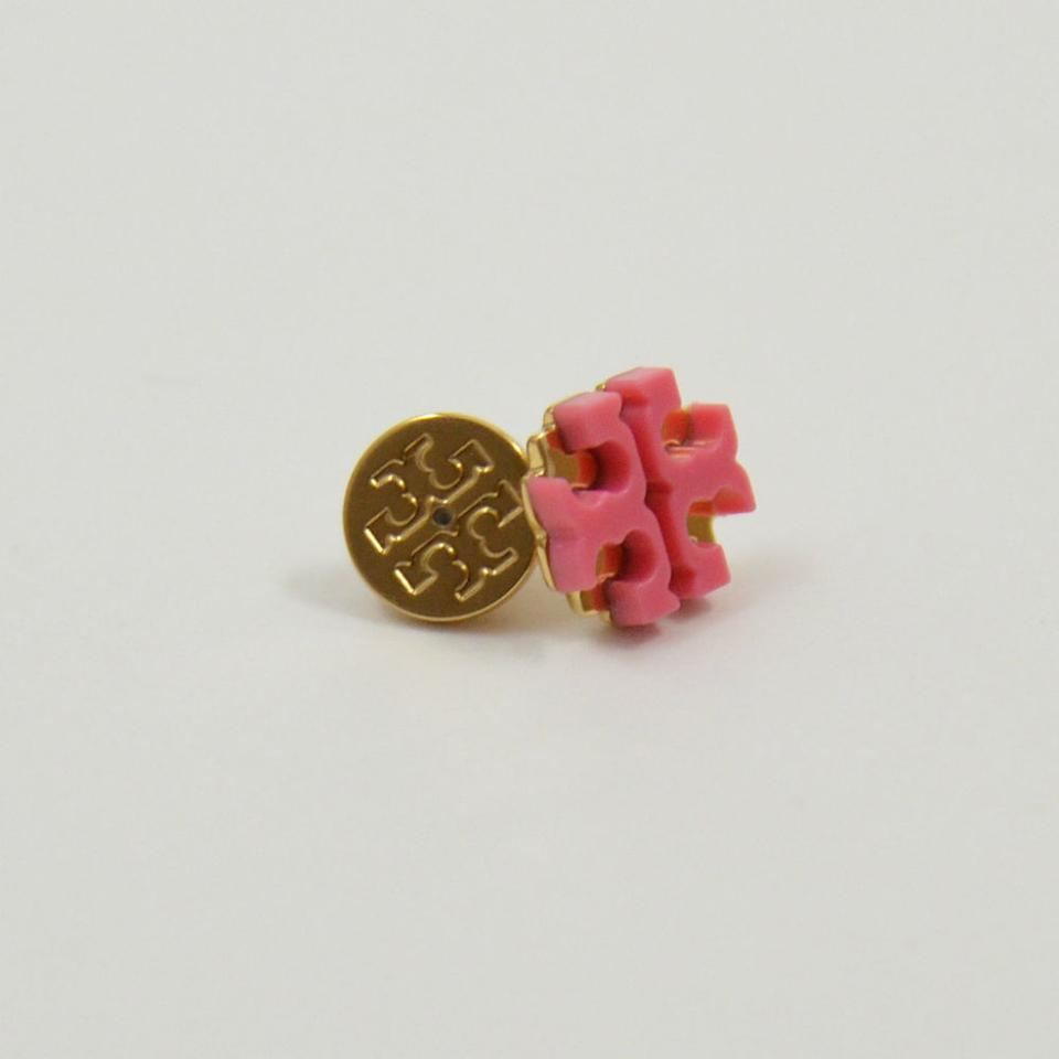 Tory Burch New Enamel Large T Logo Stud Earrings 1234