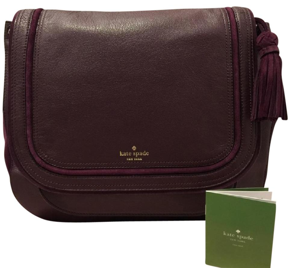 0614aa82f876 Kate Spade Wkru3990 Small Rianne Pratt Street In Burgundy Leather and Suede  Cross Body Bag