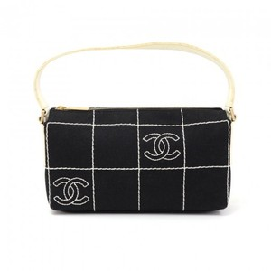 Chanel Cotton Pochette Wristlet in Black