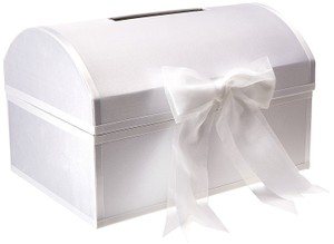 Satin Covered Treasure Style Wedding Gift Card Box Guest Wedding Box