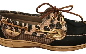 Sperry leopard print and tan Flats