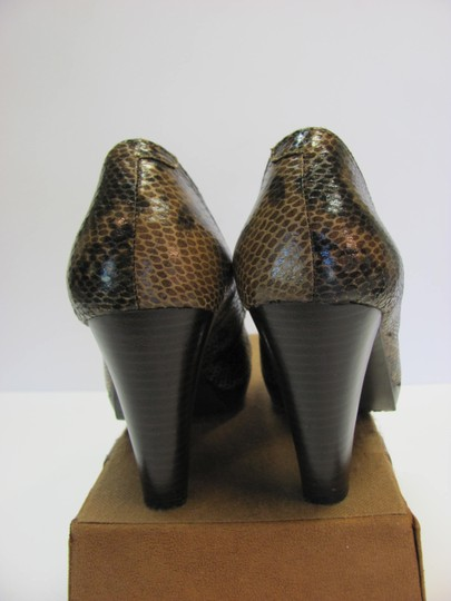 Flexi Leather Reptile Design Size 8.00 M Very Good Condition Brown, Black, Pumps Image 6