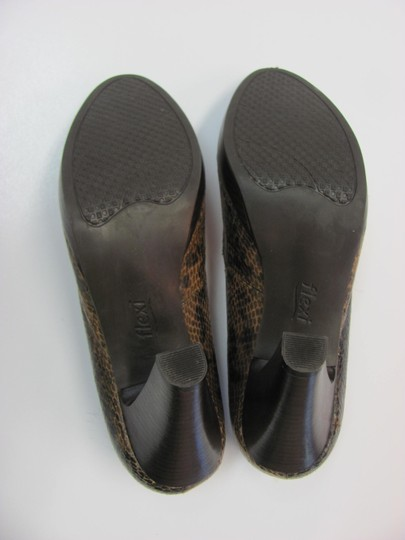 Flexi Leather Reptile Design Size 8.00 M Very Good Condition Brown, Black, Pumps Image 7