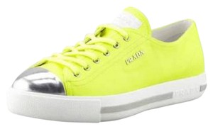 Prada Glitter Sneaker Gold Fashion Neon Lime Athletic
