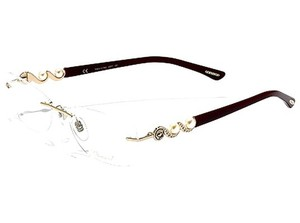 Chopard Chopard Eyeglasses VCH855S Copper Gold (GP 23kt) Cranberry Pearl 08FC