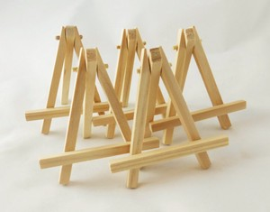 Five (5) Small Wooden Postcard Easels