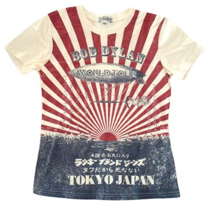 Lucky Brand Vintage 1990s 1970s Tokyo T Shirt Red Blue White