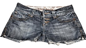 Guess By Marciano Jean Skirt Distressed Mini/Short Shorts Blue