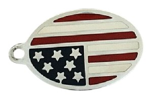 Tiffany & Co. TIFFANY & Co. Enameled American Flag Charm