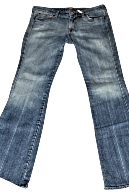 Item - Faded Distressed Blue Seven7 Signature Flare Leg Jeans Size 31 (6, M)