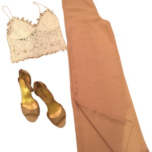 ANGL Wide Leg Pants Nude