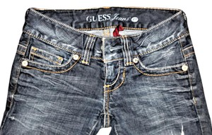 Guess By Marciano Signature Flare Leg Jeans-Distressed
