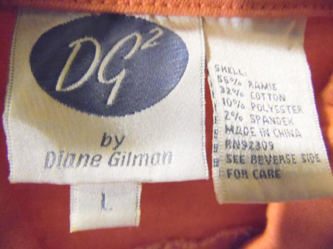 DG2 by Diane Gilman Peach Womens Jean Jacket Image 11