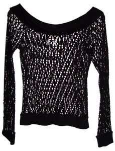 Guess Steampunk Fishnet Punk Rock 1980's Glam Top Black Net (Stretch) discontinued
