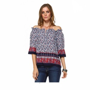 York Couture Top Blue, Red