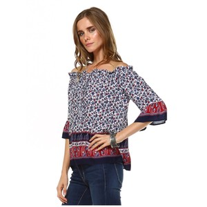 York Couture Top Red, Blue, Multi