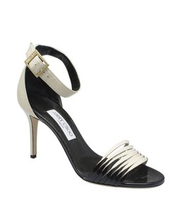 Jimmy Choo Patent Leather Leather Black,Tan Sandals