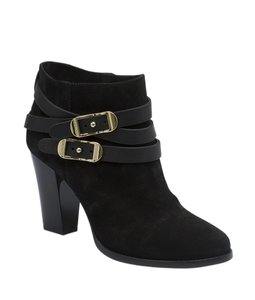 Jimmy Choo Ankle Suede Leather Black Boots