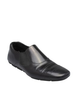 Prada Loafers Leather Black Boots