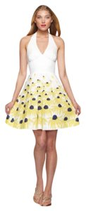 Lilly Pulitzer short dress White, Black, Yellow Halter A-line Polka Dot on Tradesy