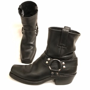 Frye Leather Motorcycle Cowboy Biker Western Black Boots