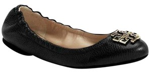 Tory Burch black gold Flats