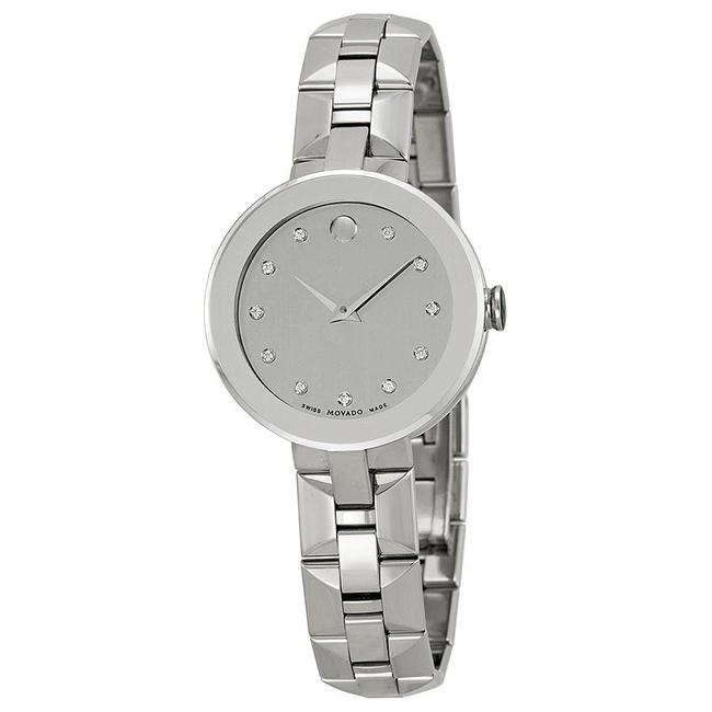 Movado Silver Mirror Sapphire Dial Stainless Steel Ladies Watch Movado Silver Mirror Sapphire Dial Stainless Steel Ladies Watch Image 1