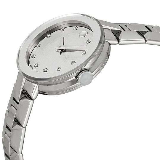 Movado Movado Sapphire Silver Dial Stainless Steel Authentic Ladies Watch