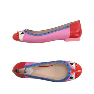Fendi pink black white multi Flats