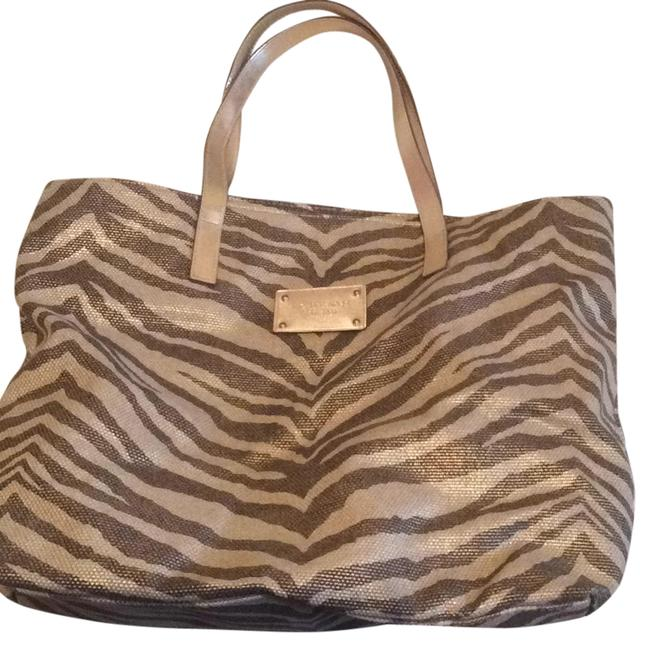 Item - Brown and Gold Cotton Beach Bag