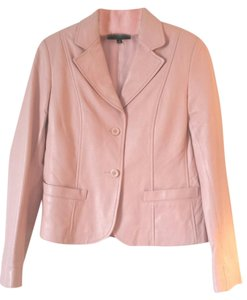 Id 6 Pink Leather Blazer Light Pink Leather Jacket