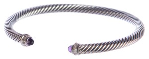 David Yurman Cable Classics Bracelet with Amethyst 5mm Sz Medium $625 NEW