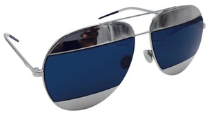 Dior Dior Split 1 Silver and Blue Dior Aviator Sunglasses